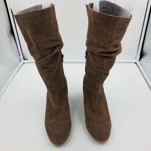 Crown Vintage Suede Heeled Boots